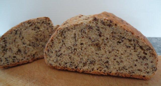 pão de linhaça, janeiro de 2011